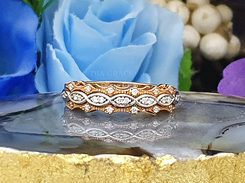 Casual Band Diamond Ring For Women