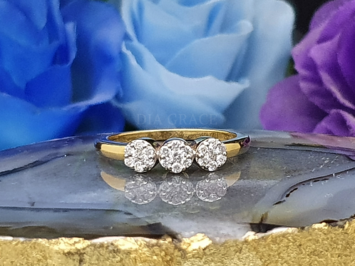 3 Cluster Musketeers Diamond Ring For Women