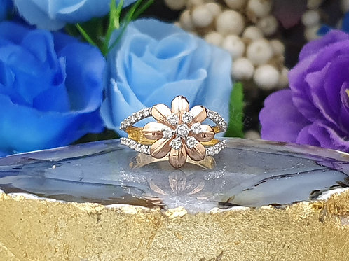 Daily Floral Diamond Ring For Women