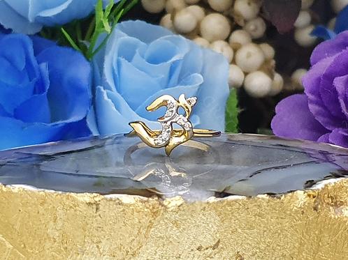 OM Diamond Ring For Women