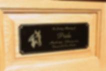 Horse Urn Engraved Nameplate
