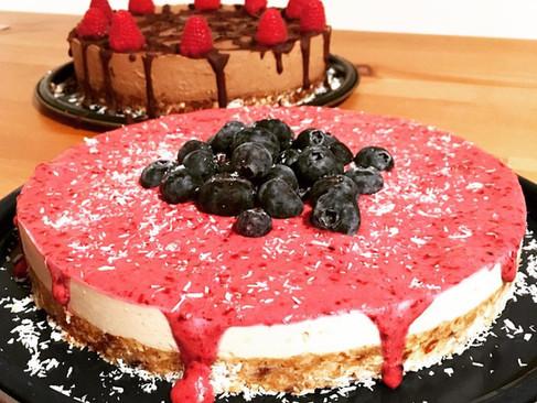 Roh Cheescake und Schkolode Kuchen