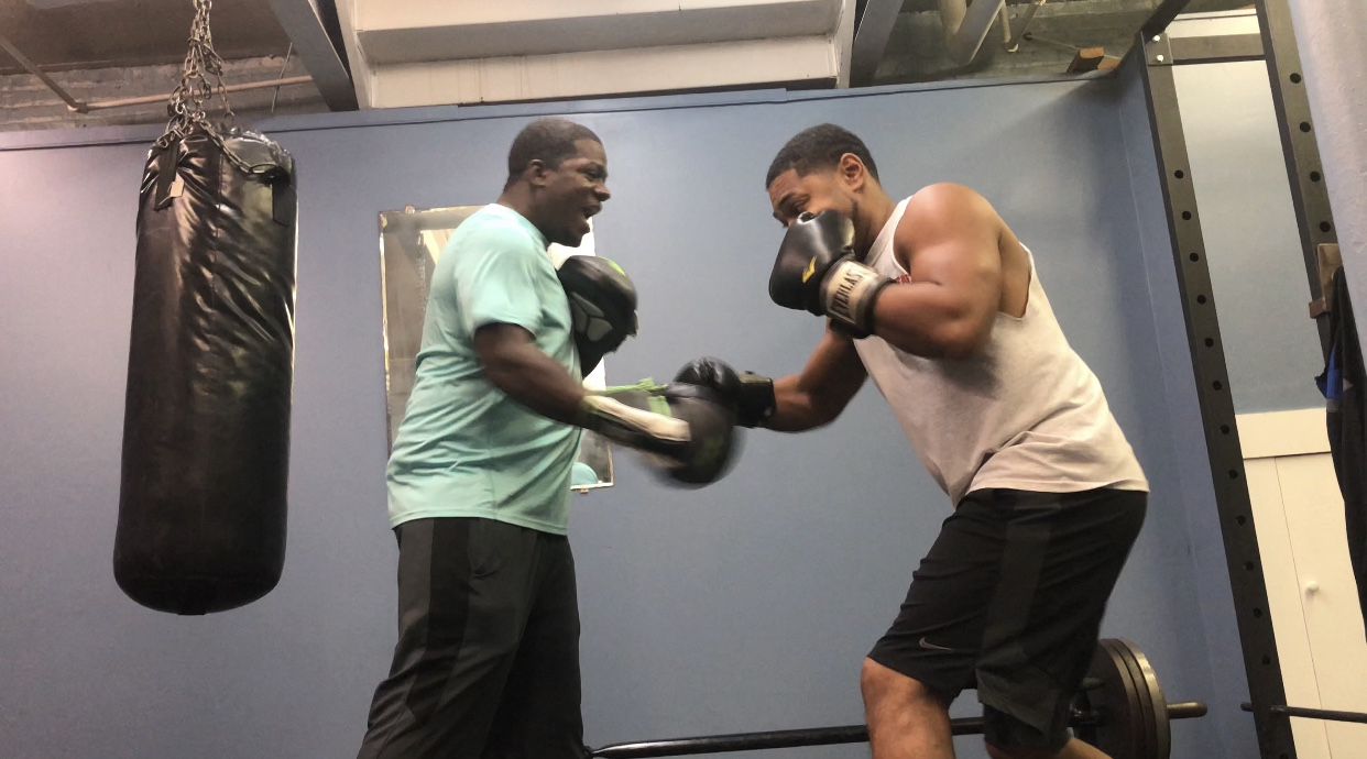 Mitt Work w/ my Trainer