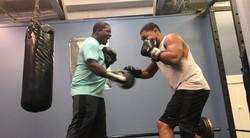Mitt Work w/ my Trainer