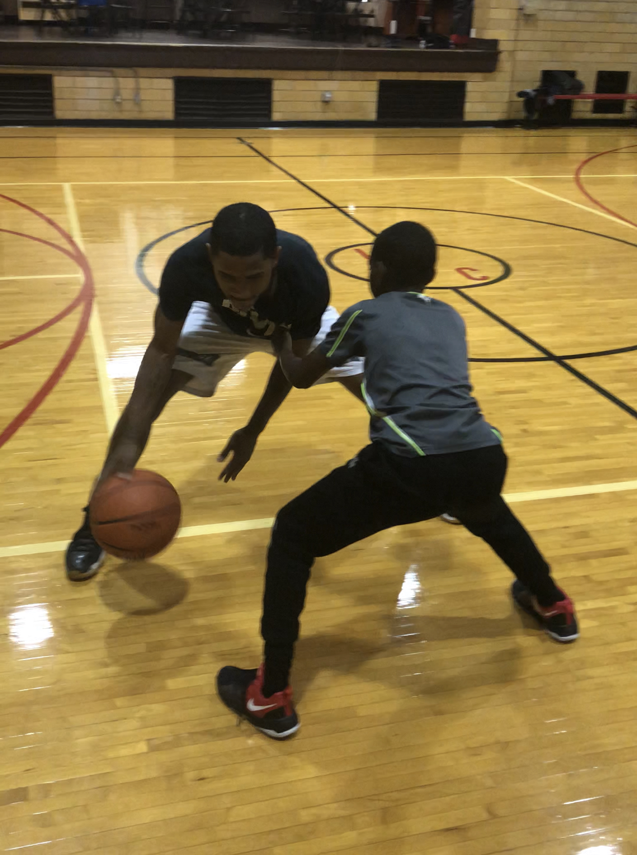Stationary ball handling w/ contact