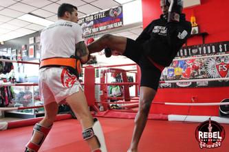 Muay Thai Champion NJ Mac preparing for his next fight with Coach Eddie