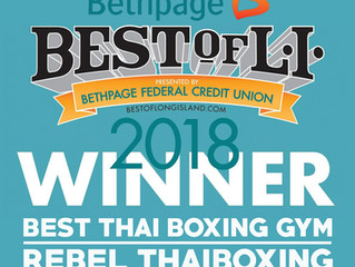 Rebel Thaiboxing Voted Best of Long Island!