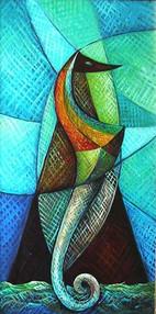 Deniz Atı, 2004, TÜY, 80 X 70 cm