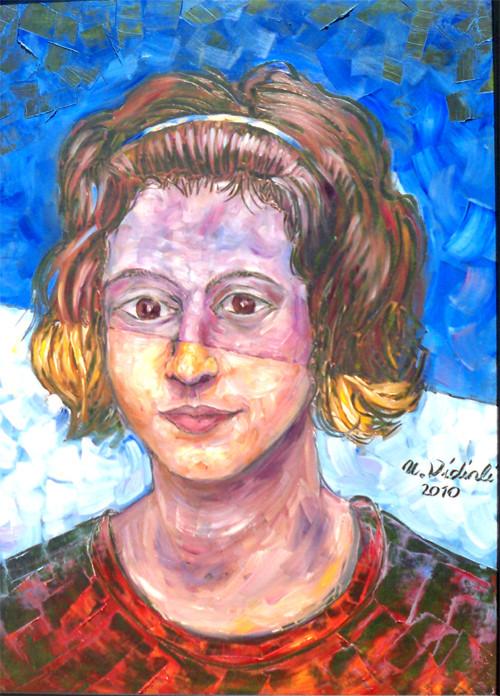 Kızım-Öykümüz(9 yaşındayken), 2011, KÜY, 70X50 cm