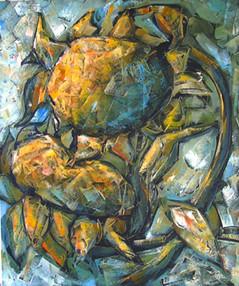 Öpücük, 2003, TÜY, 60 X 50 cm