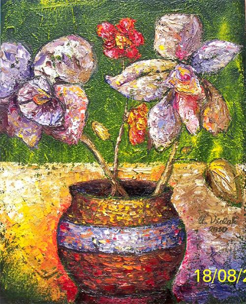 Orkideler, 2011, TÜY, 75X60 cm