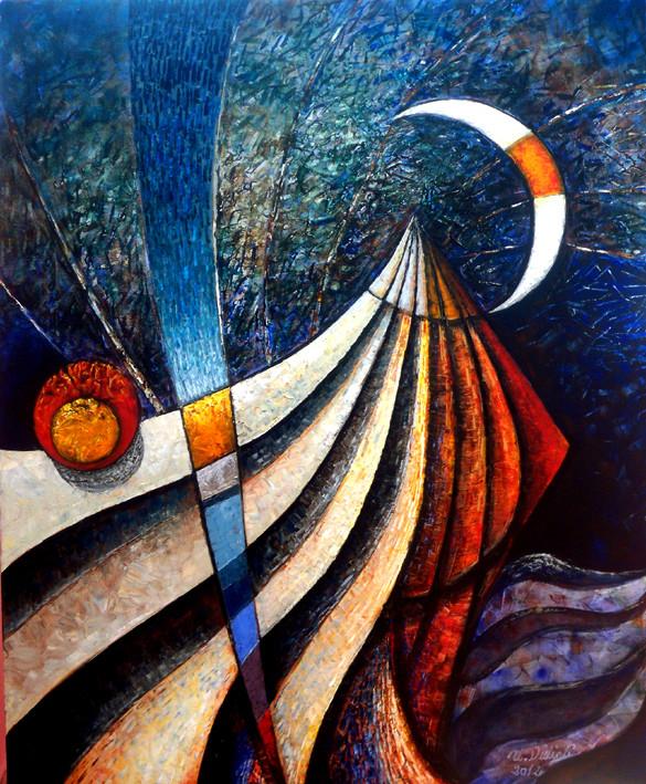 Samsun'a Çıkış -03, 2012, T.Ü.K.T., 120 X 100 cm