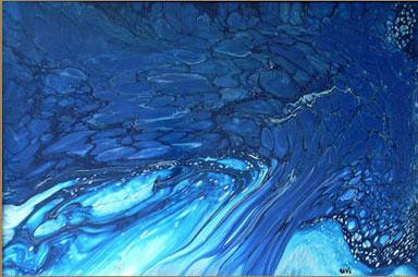 Mavi Ağacı, 1999, MDF, 60 X 40 cm