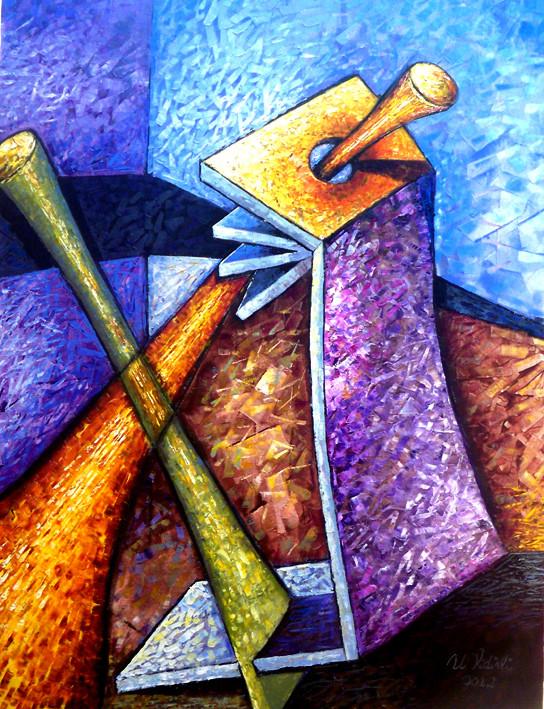 Zamanda Kesişim-01, 2012, T.Ü.K.T., 80 X 63 cm