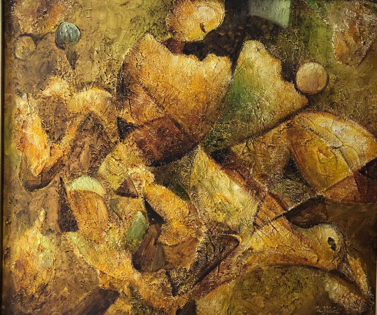Yumurta mı tavuktan..., 2006, TÜY, 75 X 60 cm