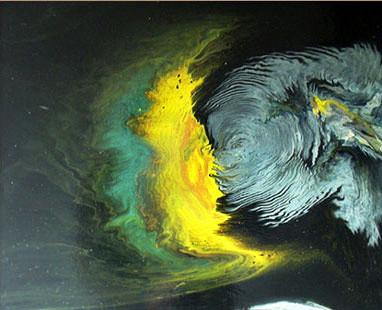 Öpücük, 1999, MDF, 60 X 50 cm