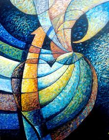 Yürek Taşkınları -01, 2012, T.Ü.K.T., 80 X 63 cm