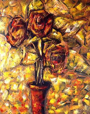 Üç Gül, 2004, TÜY, 80 X 63 cm