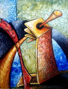 Zamanda Kesişim-02, 2012, T.Ü.K.T., 80 X 63 cm