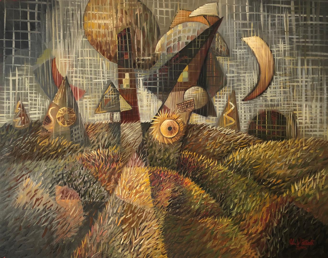 Tüylü peysaj, 2005, TÜY, 80 X 63 cm
