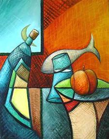 Rakı Şisesinde Balık Olsam, 2005, TÜY, 80 X 63 cm
