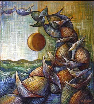Balıklar, 2005, TÜY, 50 X 45 cm