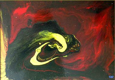 Koç Başı, 1999, MDF, 50 X 40 cm
