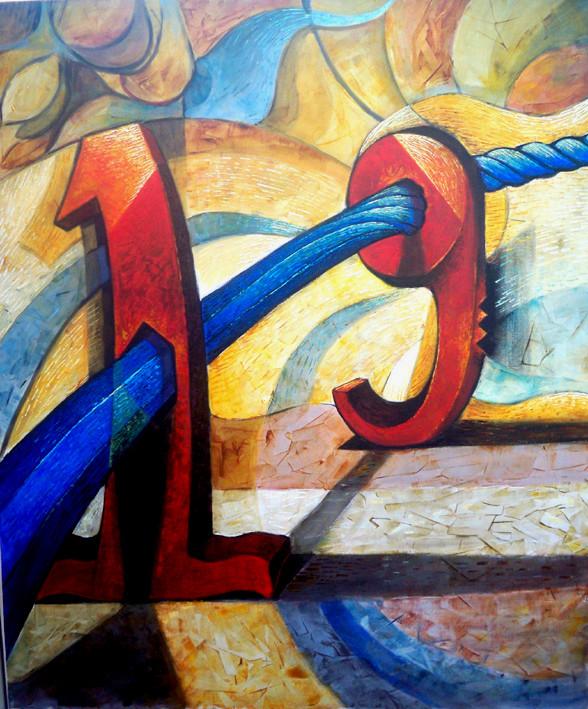 1'den 9'a Yolculuk-01, 2012, T.Ü.K.T., 120 X 100 cm