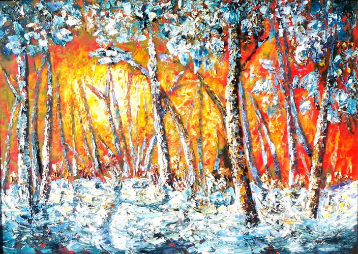Bir kış Sabahı , 2011, KÜY, 70X50 cm