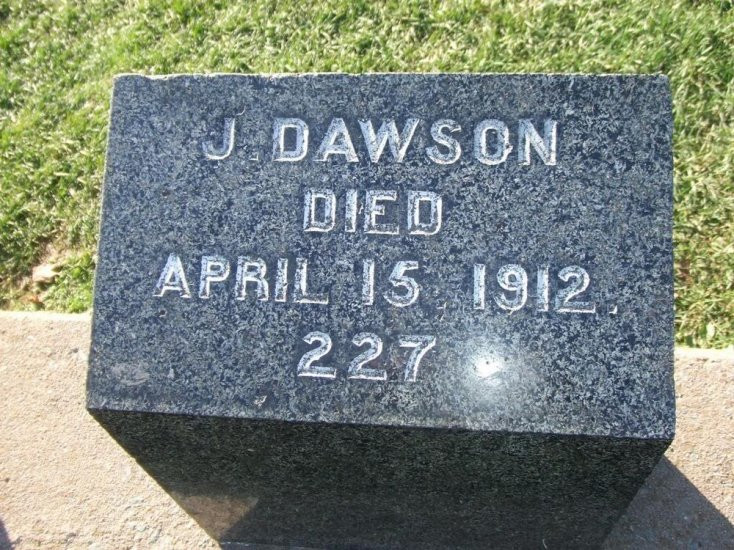 Tumba del verdadero Jack Dawson