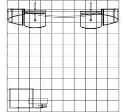 PCG 10.47 10' x 10' Inline Display