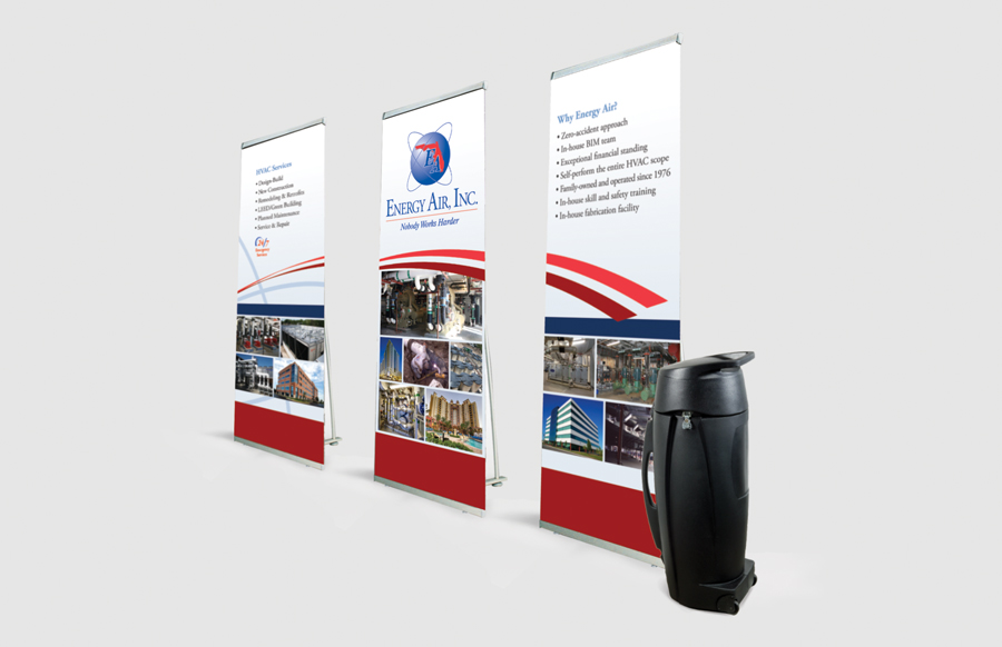3 Pack Lite 1000 Banner Stands With
