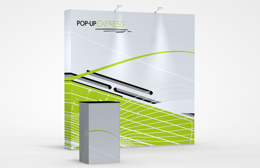 8' Straight Pop-Up Express Display