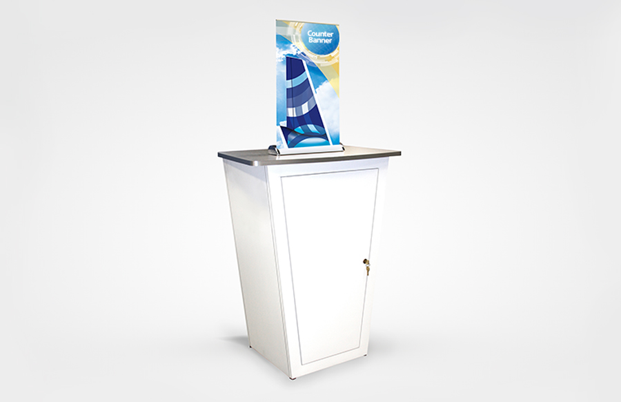Mini Retractable Counter Bannerstand
