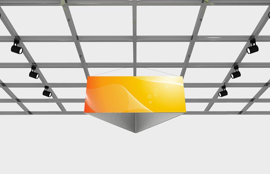 "PCG Triangle 8' x 42"" Fabric Trade S"