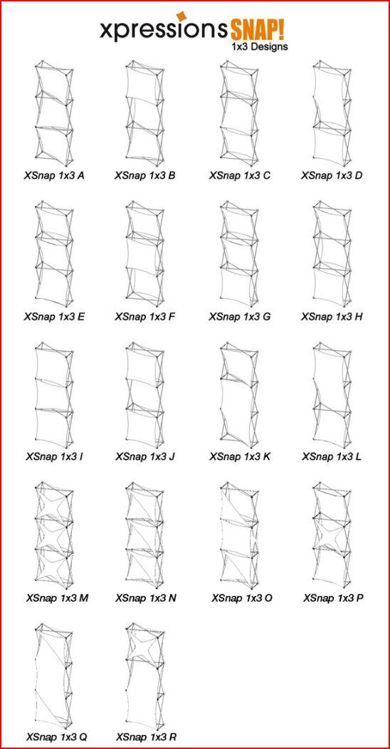 Xpressions SNAP 1x3 configurations_0