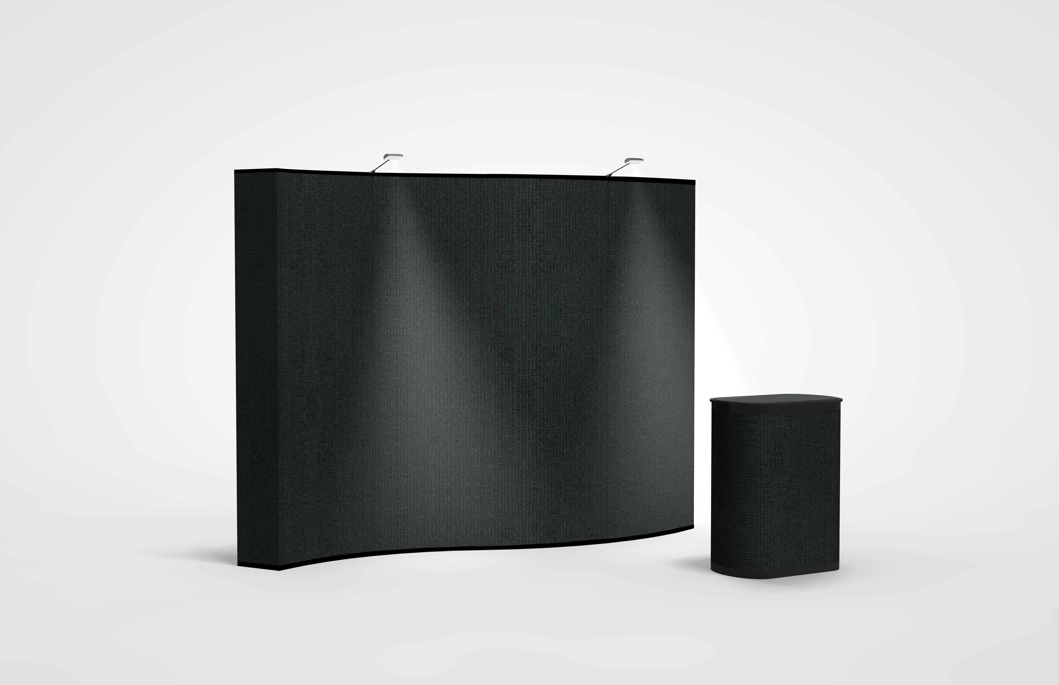Premium 10 Foot Wave Pop-Up Display