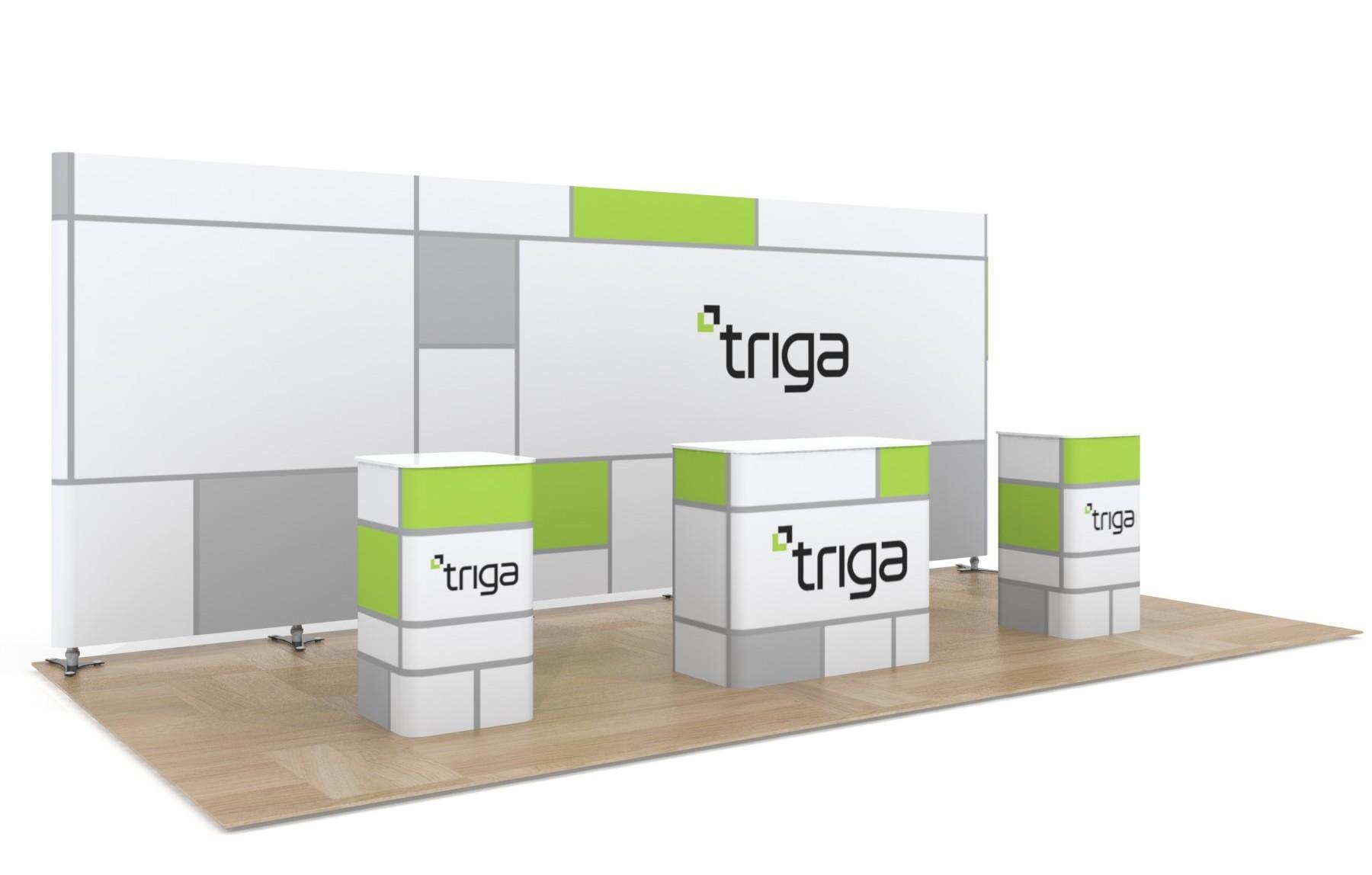 "Triga 20' x 10' Trade Show Booth ""B"""
