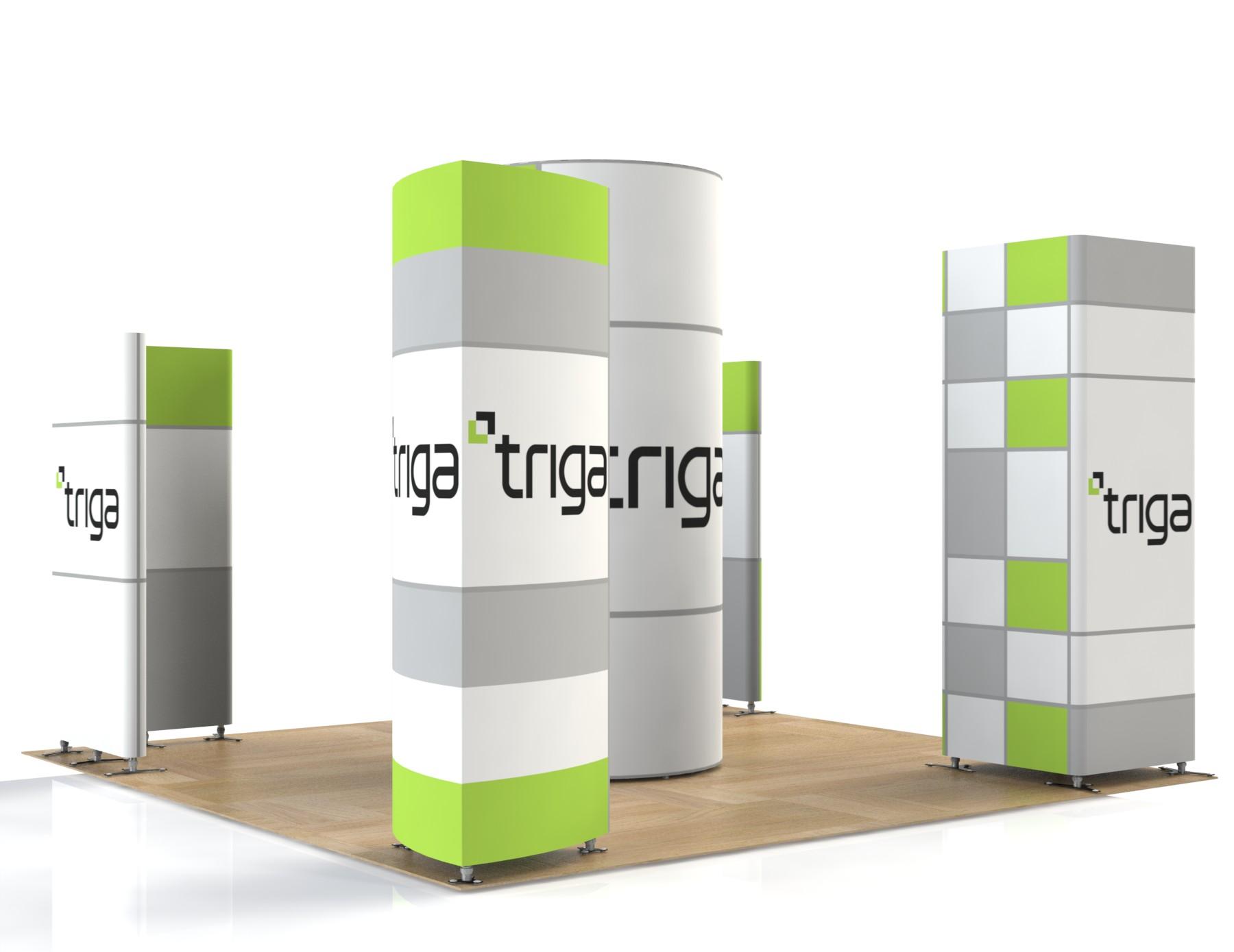 "Triga 20' x 20' Trade Show Booth ""C"""