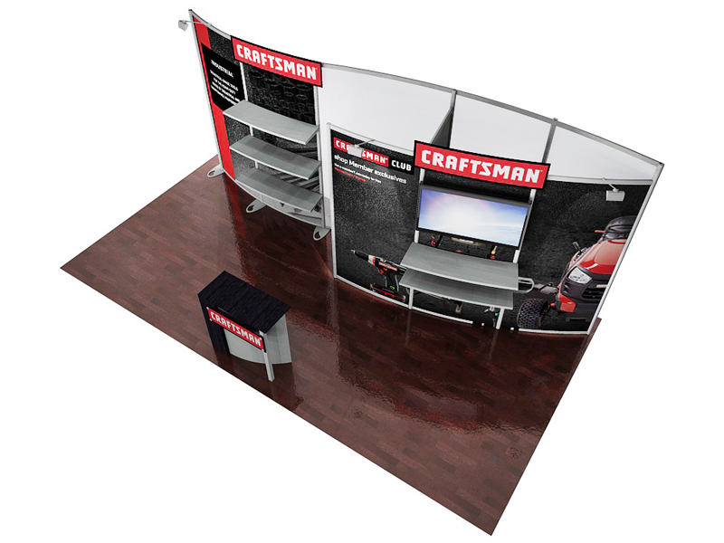 PCG 20.17 10' x 20' Inline Display