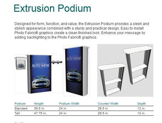 Extrusion Podiums p1
