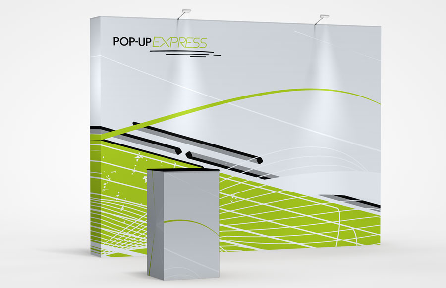 10' Straight Pop-Up Express Display