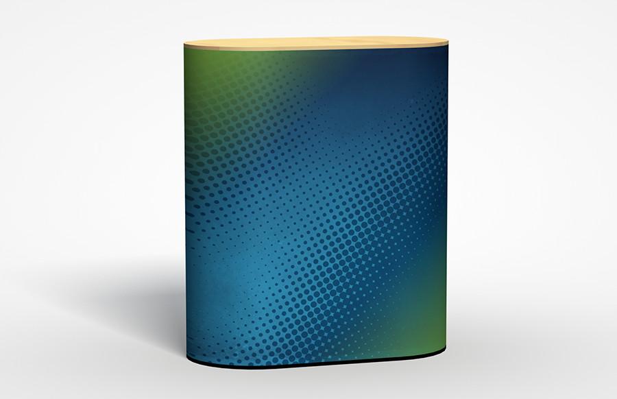 UltraLite Pedestal Oval Cabinet 42''