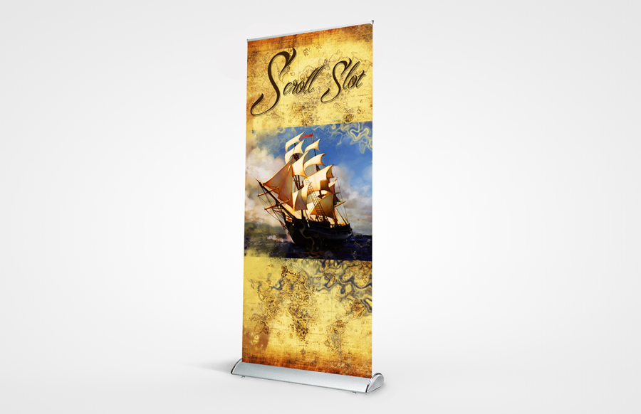 Scroll Slot 850 Retractable Bannerst