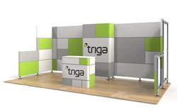 "Triga 20' x 10' Trade Show Booth ""F"""