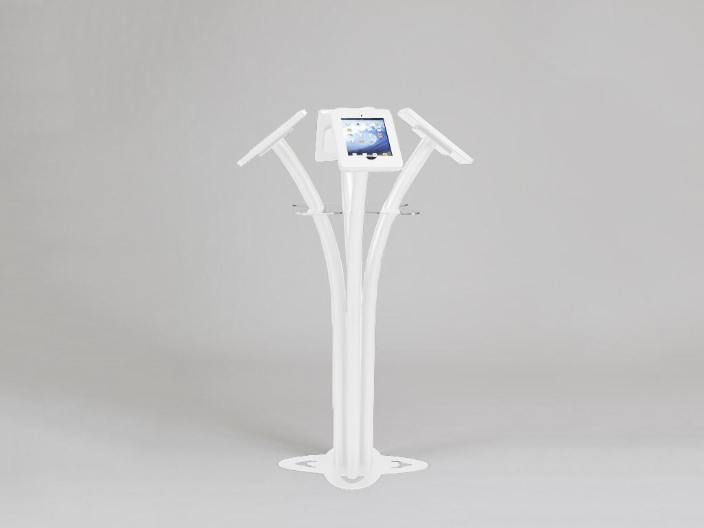 MOD-1338 iPad Kiosk white