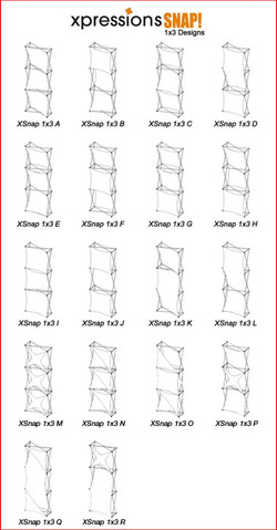 Xpressions SNAP 1x3 configurations