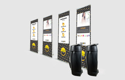 4 Pack Lite 850 Banner Stands With R