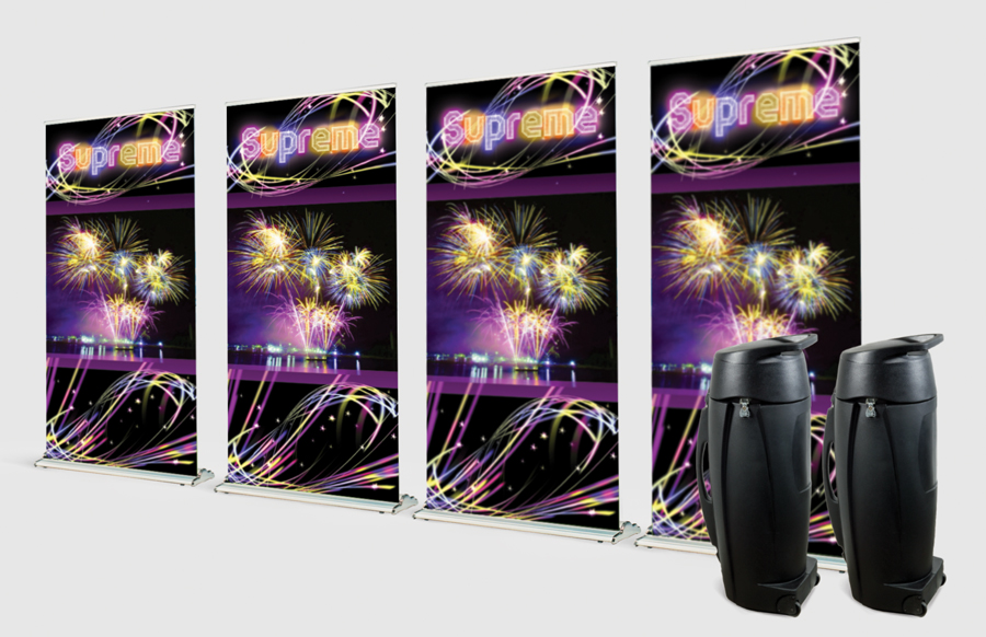 4 Pack Supreme 1000 Banner Stands Wi