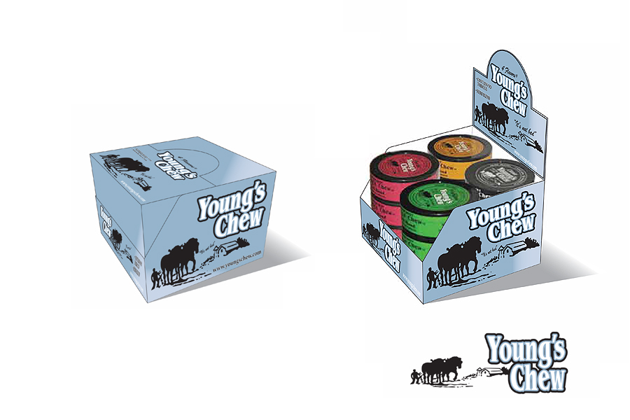 Youngs Chew-Shipper Packaging & POS